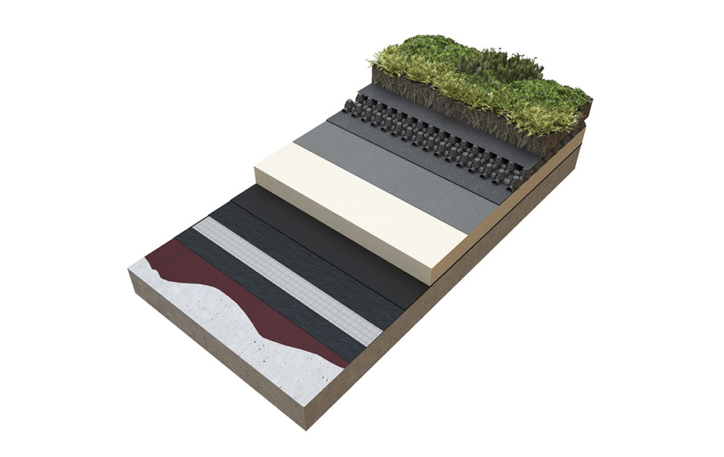 Hot Applied Permatec Ecowrap Green Roof_1